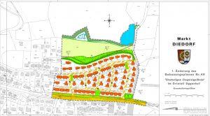 71 Hausparzellen auf einer Gesamtfläche von 45.000 m² in Diedorf/Oggenhof (komplette Baulandentwicklung inklusive Bebauungsplan)